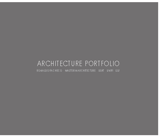Ronaldo pacheco portfolio arquitectura von ronaldo pacheco for Portfolio architektur